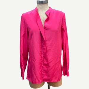 GIANNI BINI Bright Pink Pullover Blouse XS